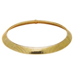 Bulgari Gold Tubogas Necklace