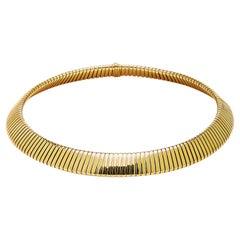 Bulgari Gold Tubogas Necklace