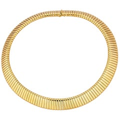 Bulgari Gold Tubogas Vintage Necklace