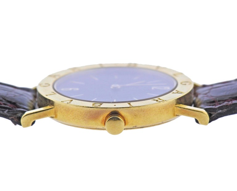 Bulgari Gold Watch BB 33 GL In Excellent Condition For Sale In New York, NY