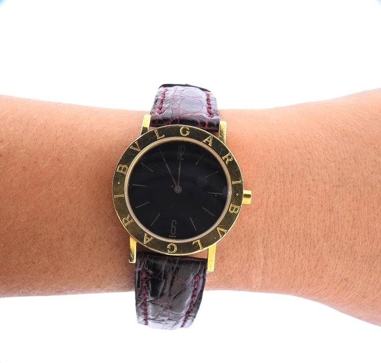 Bulgari Gold Watch BB 33 GL For Sale 1