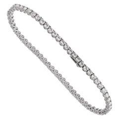 Bulgari Griffe 6.34 Carat Diamond Tennis White Gold Bracelet