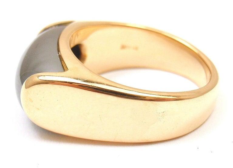 Bulgari Hematite Tronchetto Yellow Gold Ring For Sale 1