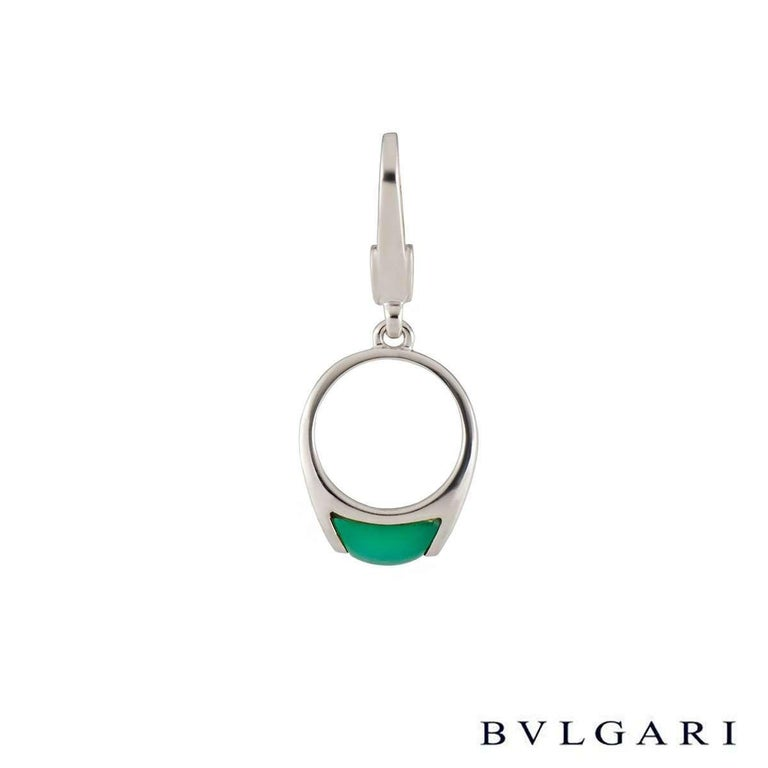 Mixed Cut Bulgari Jade Charm Pendant For Sale