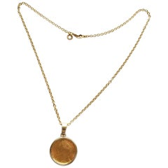 Bulgari King George III Gold Coin Pendant Link Chain Necklace