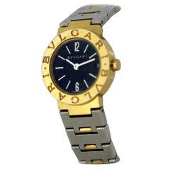 Bulgari Ladies 18 Karat Gold and Stainless Steel Quartz Wristwatch, circa 1990s