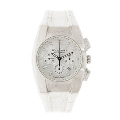 Bulgari Ladies Stainless Steel Ergon Chronograph self-winding Wristwatch