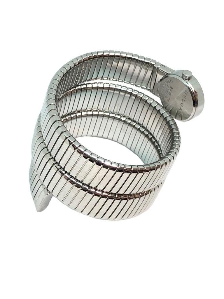 Bulgari Ladies Steel Serpenti Snake Bracelet Quartz Wristwatch For Sale 1