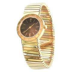 Bulgari Ladies Tri-Color Gold Tubogas Wristwatch