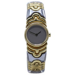 Bulgari Ladies Yellow gold Stainless Steel bangle Wristwatch