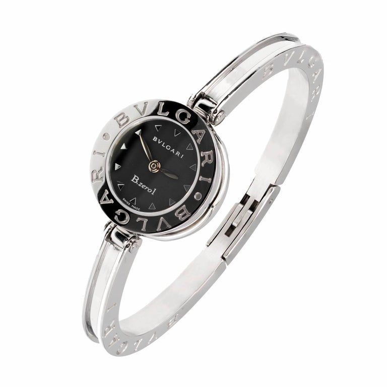 Bulgari Ladies Stainless Steel B.Zero1 Bangle Quartz Wristwatch