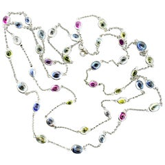 Bulgari Long Chain with Fine Sapphires