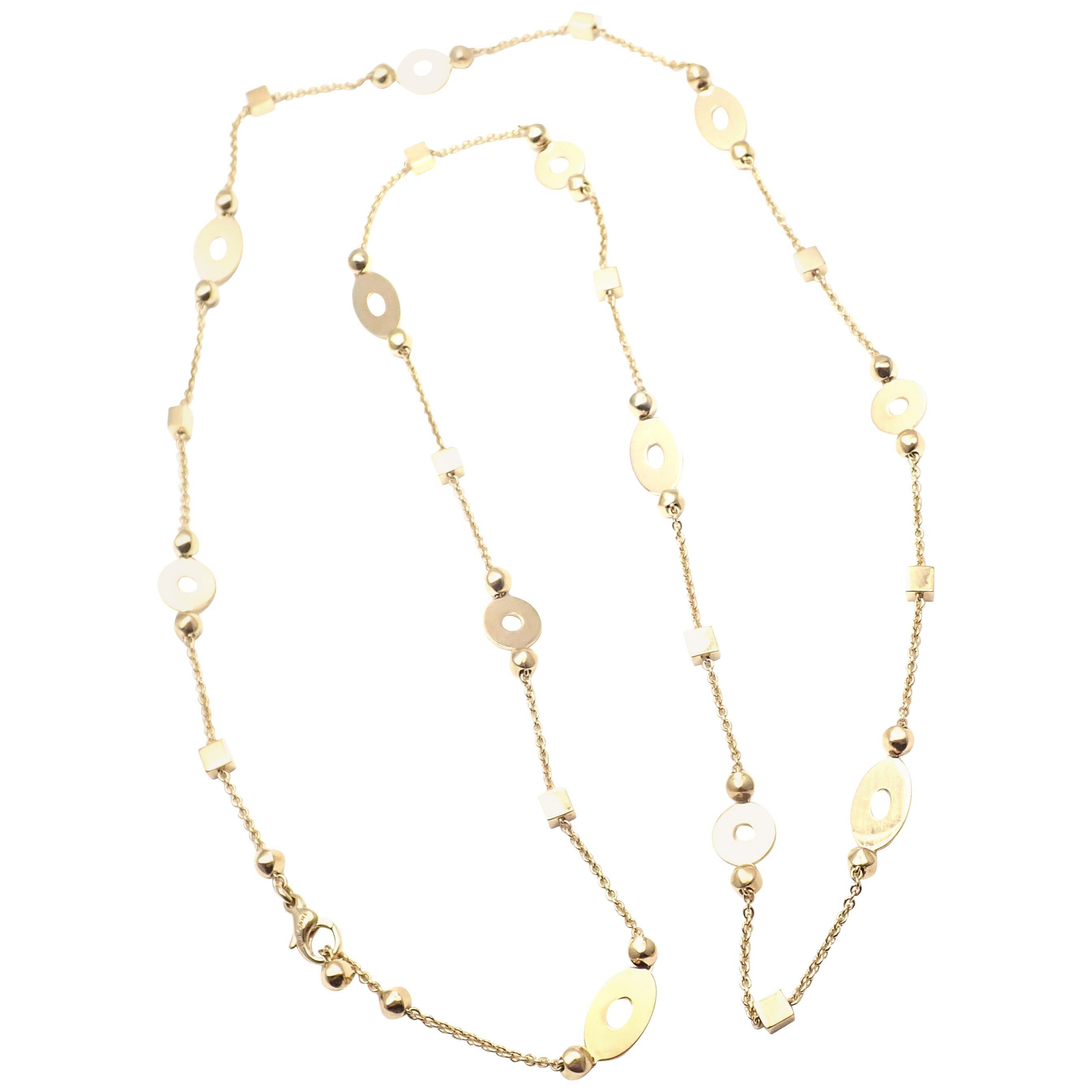 Bulgari Lucea Long Link Yellow Gold Chain Necklace