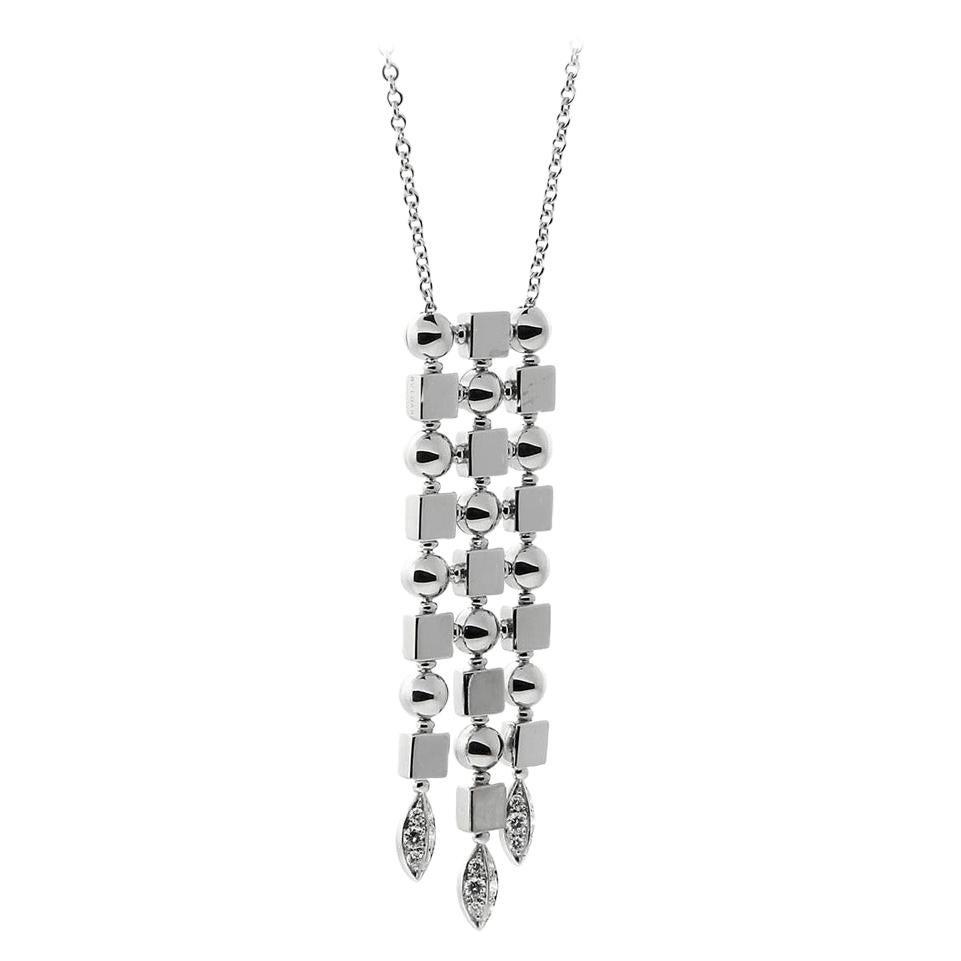 Bulgari Lucea Diamond Gold Drop Necklace