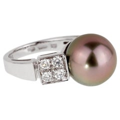 Bulgari Lucea Pearl Diamond White Gold Ring