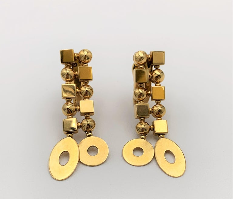 Authentic Bulgari 'Lucea' earrings crafted in 18 karat yellow gold. Signed Bulgari, Made in Italy, with hallmark. CIRCA 2000s.