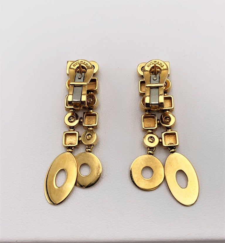 Women's Bulgari 'Lucea' Yellow Gold Earrings For Sale
