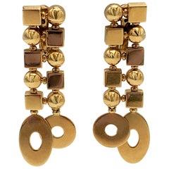 Bulgari 'Lucea' Yellow Gold Earrings