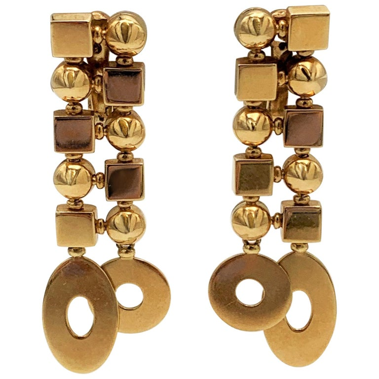 Bulgari 'Lucea' Yellow Gold Earrings For Sale