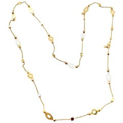 Bulgari Lucea Yellow Gold Long Chain Necklace