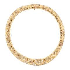 Bulgari Magnificent 28 Carat Diamond Yellow Gold Necklace