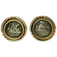 Bulgari Monete Ancient Coin Earclips