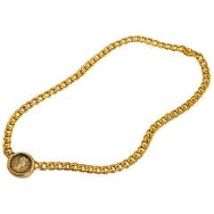 Bulgari Monete Ancient Roman Coin Chain Necklace