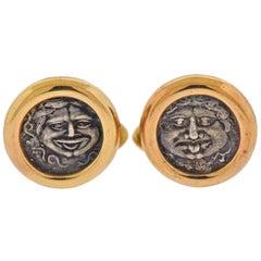 Bulgari Monete Gold Ancient Coin Cufflinks