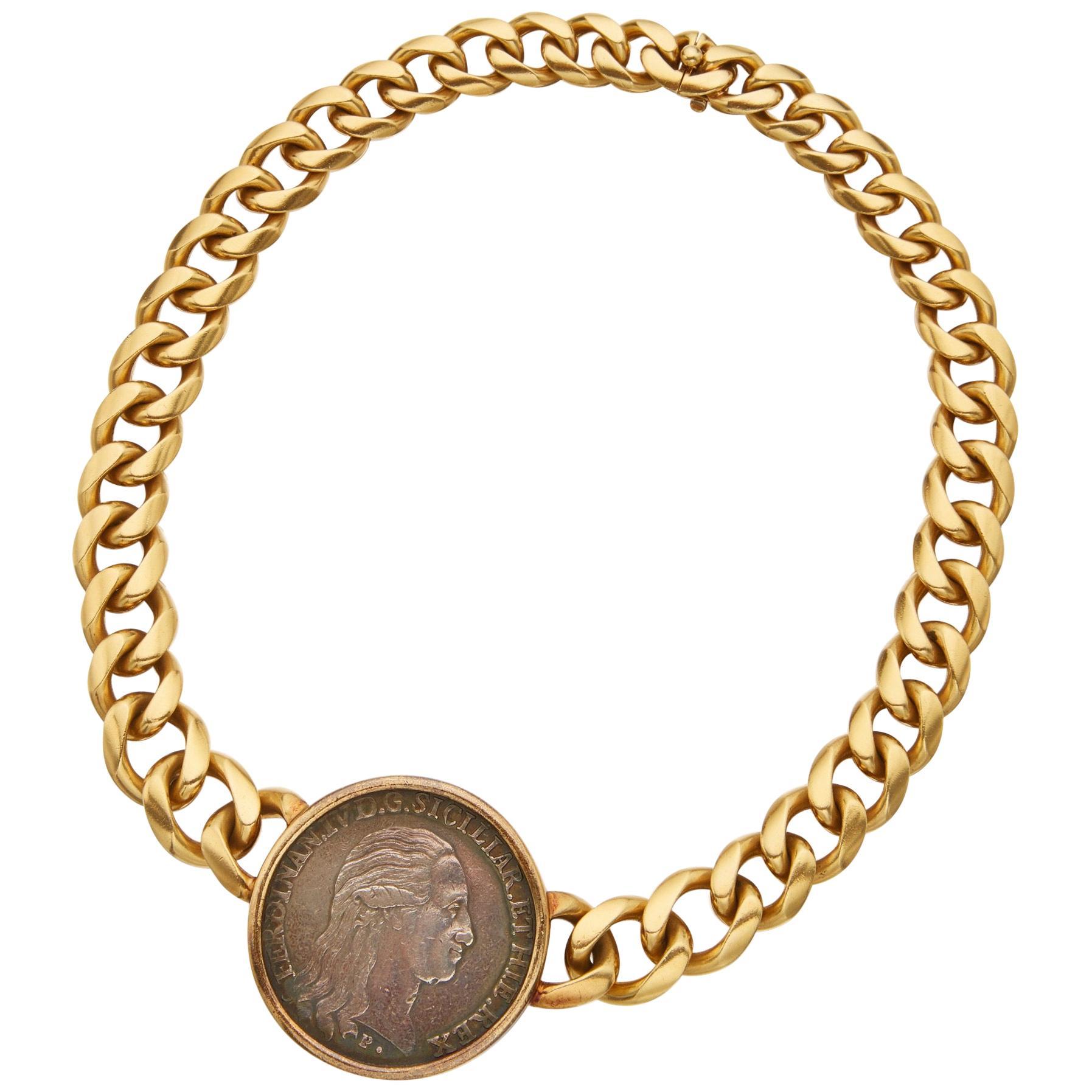 Bulgari Monete Large Antique Coin Necklace