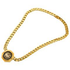 Bulgari Monete Medieval Coin Gold Necklace