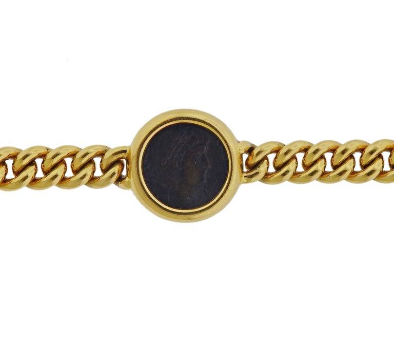 Bulgari Monete Nicomedia Constantinus Ancient Coin Gold Bracelet In Excellent Condition For Sale In Boca Raton, FL