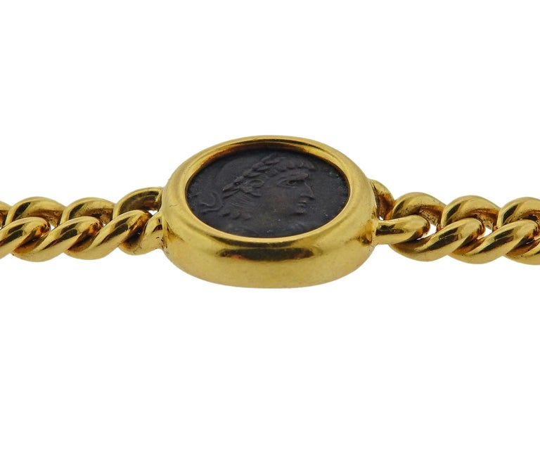 Bulgari Monete Nicomedia Constantinus Ancient Coin Gold Bracelet For Sale 1