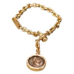 Bulgari Monete Roman Empire Ancient Coin 18-Karat Gold Key Chain