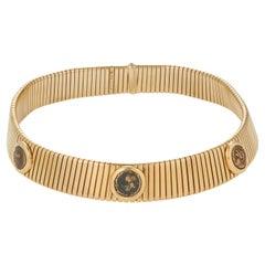 Bulgari Monete Yellow Gold Tubogas Necklace