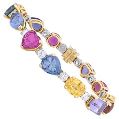 Bulgari Multi-Color Sapphire and Diamond Bracelet