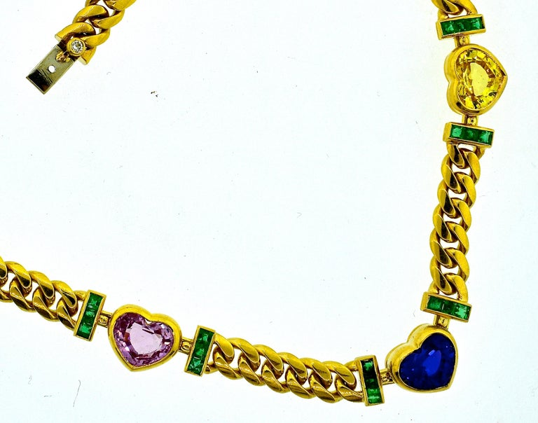 Bulgari Necklace Centering a GIA Certified Natural Unheated Burma Sapphire 1