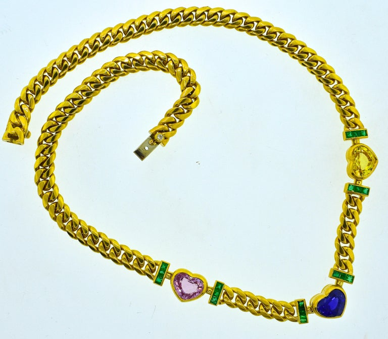 Bulgari Necklace Centering a GIA Certified Natural Unheated Burma Sapphire 3