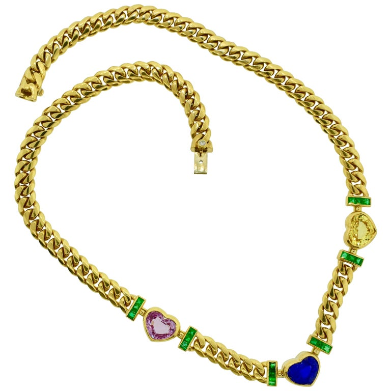 Bulgari Necklace Centering a GIA Certified Natural Unheated Burma Sapphire