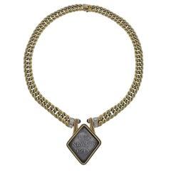 Bulgari Obs Newark, 1645, circa 800 Coin Diamond Sapphire Gold Necklace