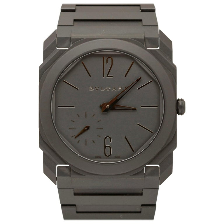 Bulgari Octo Finissimo Model 103077 Ceramic Case Wristwatch, Modern For Sale