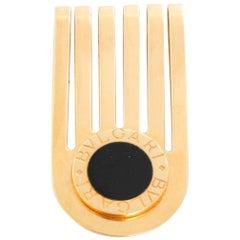 Bulgari Onyx 18 Karat Yellow Gold Money Clip