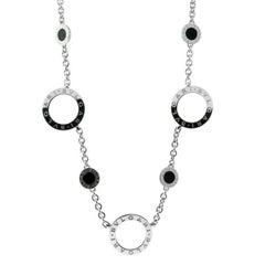 Bulgari Onyx White Gold Necklace