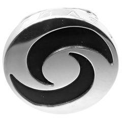Bulgari Optical Illusion Spinning Onyx White Gold Ring