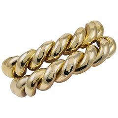 Bulgari Pair of Gold Outstanding Bracelets