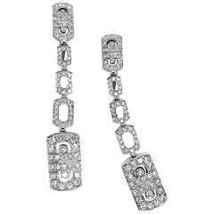 Bulgari Parentesi 18 Karat Gold and Diamond Earrings