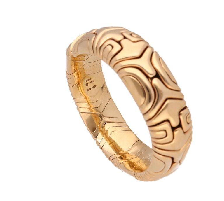 Modern Bulgari Parentesi 18 Karat Yellow Gold Bracelet For Sale