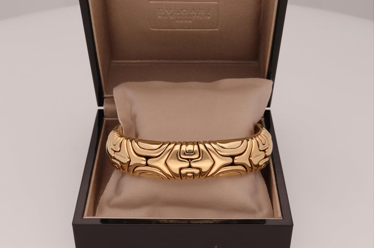 Bulgari Parentesi 18 Karat Yellow Gold Bracelet In Excellent Condition For Sale In Rome, IT