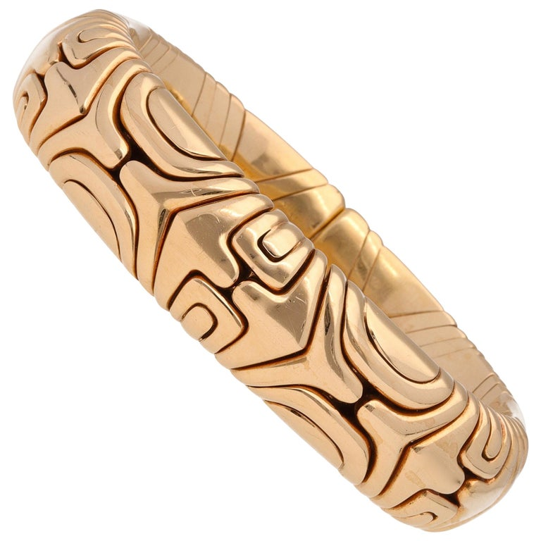 Bulgari Parentesi 18 Karat Yellow Gold Bracelet For Sale