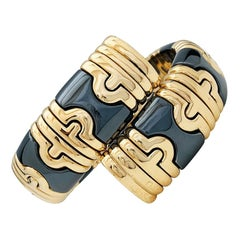 Bulgari Parentesi Bracelet, Gold and Blackened Steel