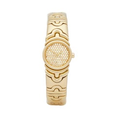 Bulgari Parentesi Diamond 18 Karat Yellow Gold BJ01